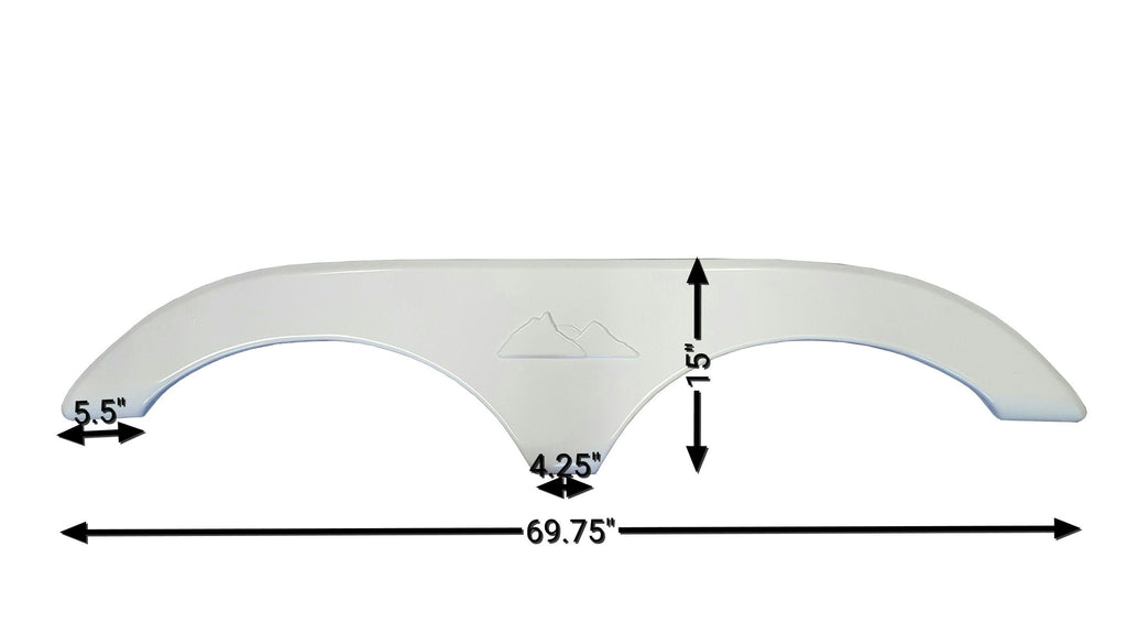 2004 Keystone Montana New Fender Skirt (White)