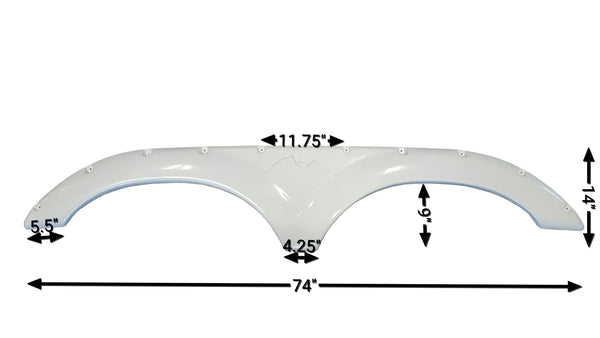 2006 Keystone Montana New Fender Skirt (White)