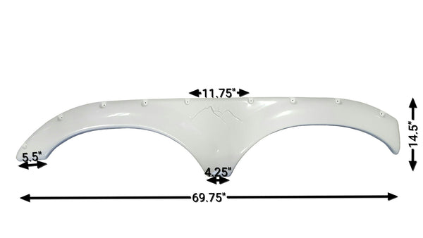 2005 - 2006 Keystone Montana New Fender Skirt (White)