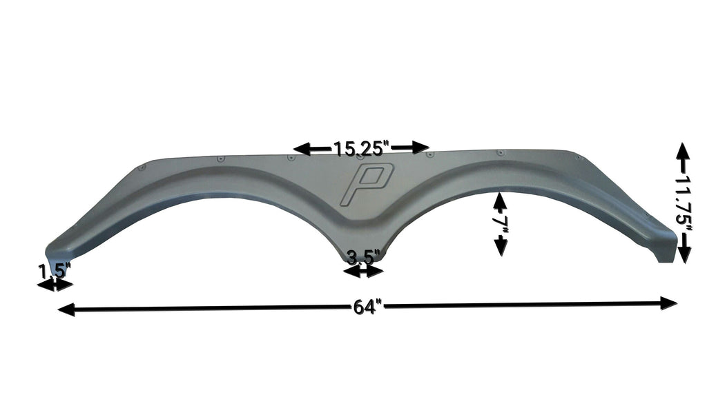 Forest River Puma Tandem Axle Fender Skirt (Grey)