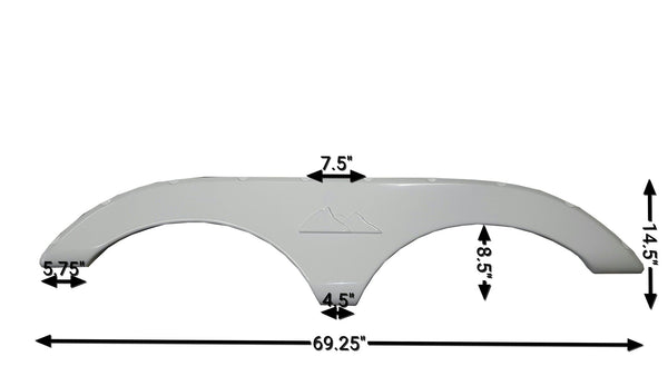2009-2011 Keystone Laredo New Fender Skirt (White)