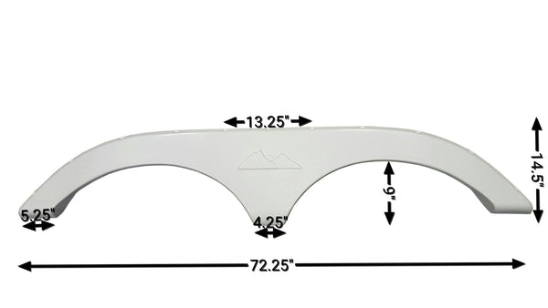 2009 - 2012 Keystone Laredo Fifth Wheel Fender Skirt (White)
