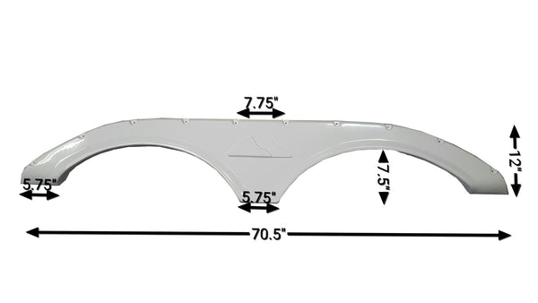 2010-2014 Keystone Cougar Fender Skirt (White)