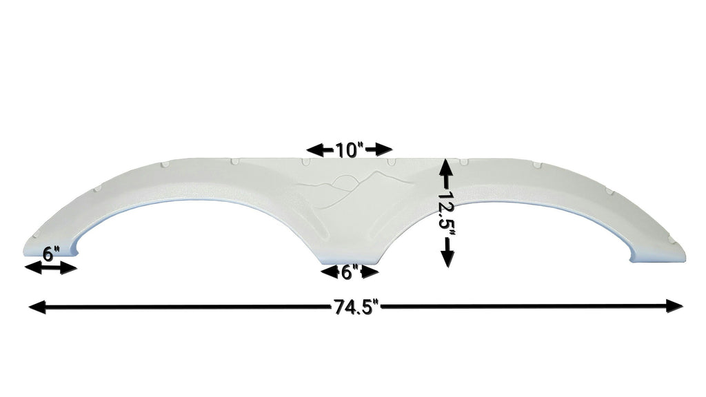 2005 - 2009 Keystone Mountaineer Fender Skirt (White)