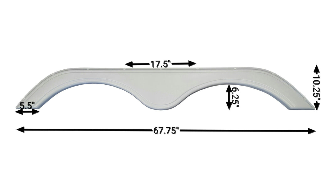 2009 Keystone Cougar / VR1 New Fender Skirt (White)