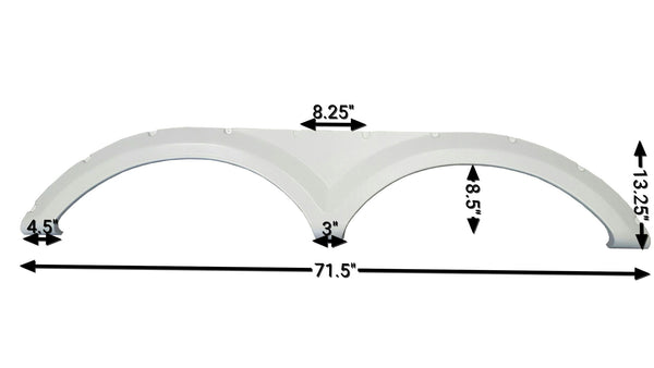 2013-2014 Keystone Avalanche New Fender Skirt (White)