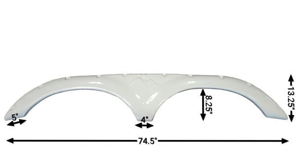 2009 - 2013 Keystone Mountaineer New Fender Skirt (White)
