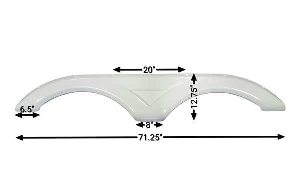 2012 Dutchmen Kodiak Fender Skirt (White)