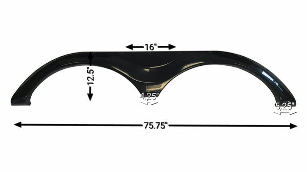 Crossroads Redwood New Fender Skirt (Black)