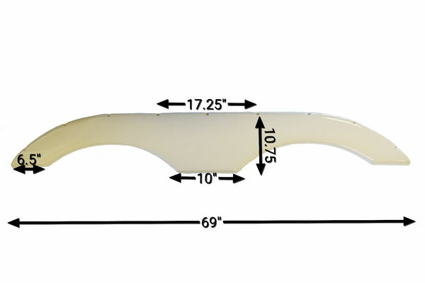 2014 - 2015 Crossroads Sunset Trail Fender Skirt (Champagne)