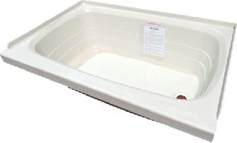 "Tub - Full - 24"" x 36"" - Right Drain - Parchment"