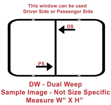 "Window - 18"" x 22"" - DW - Grey 20 - Temp - Black Frame - 8800-44077"