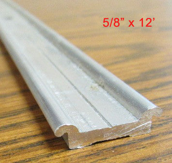 "Trim - Flat - 5/8"" x 12' - Flat Trim - Mill Finish"