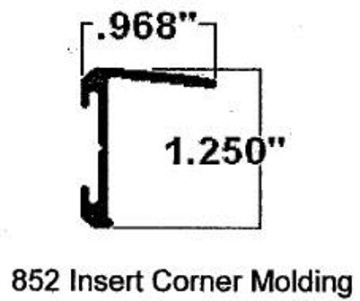 "Trim - Corner Insert - T-4 Long Leg - 108"" - Polar White"