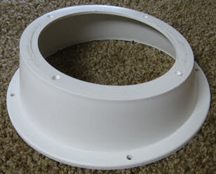 Radio Speaker Mount Bezel Straight White Elk
