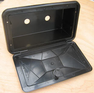 Cover - Hatch - Shower Box - Black