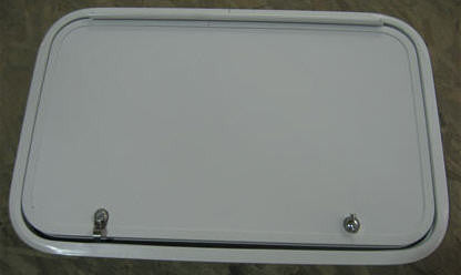 "Baggage Door - 18"" x 29 1/4"" - White"