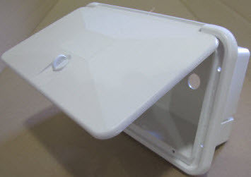 Cover - Hatch - Shower Box - White