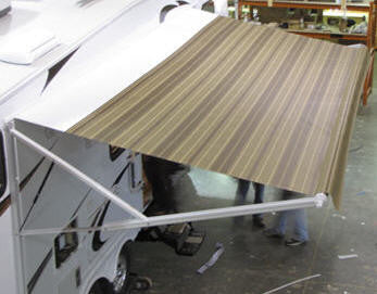 Awning - Fabric Only - 17' - Single Side - Bark - 9100 Series