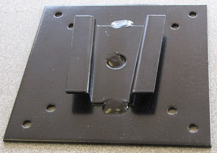 Bracket - TV - V Mount Plate - Fab & Powder Coat - 100mm - Black