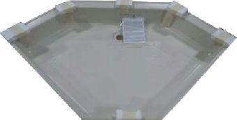 "Shower - Pan - Neo Hex - 34"" x 34"" - Parchment - 5"" Skirt - Perimeter Dam - PSP34NHCD95"