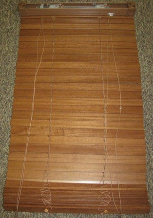 "Blind - Mini - 20"" x 50"" - #719 - 1 1/2"" Kiriwood - Cherry - Import"