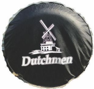 "Tire - Cover - 15"" - w/Logo - Black - w/White Ink Dutchmen"