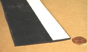 "Seal - Wiper - 1/4"" x 3"" - EPDM - Black - 2731H3-A"