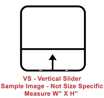 "Window - 12"" x 22"" - VS - Grey 55 - Temp - Black Frame - 8800-44316"