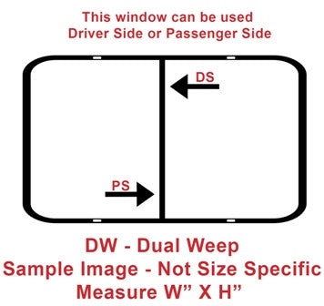 "Window - 36"" x 22"" - DW - Grey 20 - Temp - Black Frame - 8800-43999"