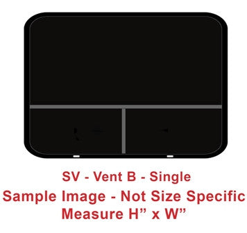 "Window - 48""H x 18""W - SV - Grey 20 - Temp - Frameless - Black - Vent B"