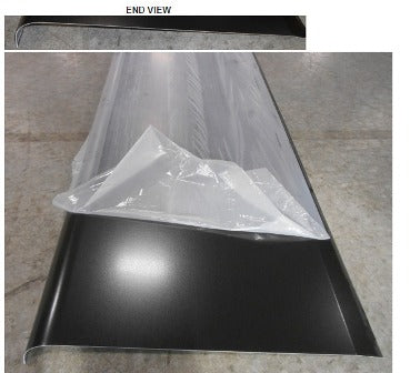 "Skirt - Metal - .040"" x 25 1/2"" x 193"" - 3"" Rad. D-12 - w/Film - Black TP - 2020-422 w/Kiss"