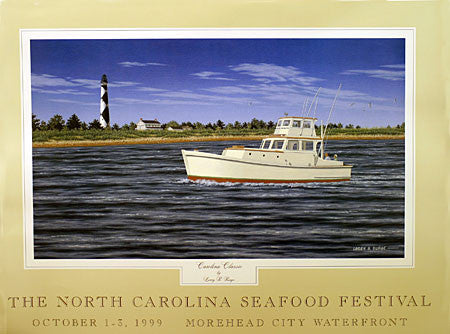 """Carolina Classic"" by Larry Burge- 1999 Commemorative Poster"