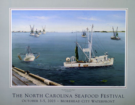 """The Blessing Of The Fleet"" by Lena Ennis- 2003 Commemorative Poster"
