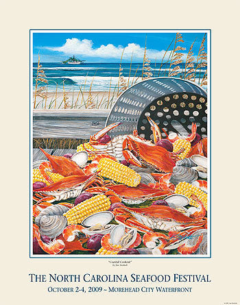 """Coastal Cookout"" by Jim Storholt- 2009 Commemorative Poster"