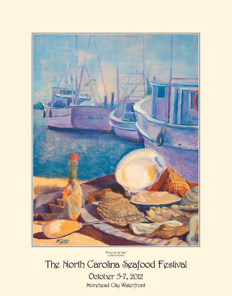 """Fruits Of The Sea"" by Mitchell Morton- 2012 Commemorative Poster"