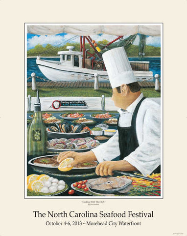 """Cooking With The Chefs"" by Jim Storholt- 2013 Commemorative Poster"