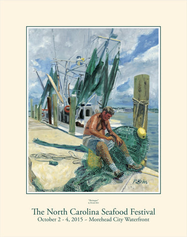 """Shrimper"" by Brenda Behr- 2015 Commemorative Poster"