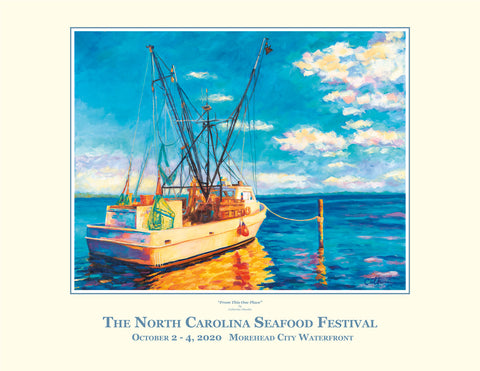 2020 NC Seafood Festival Commemorative Poster