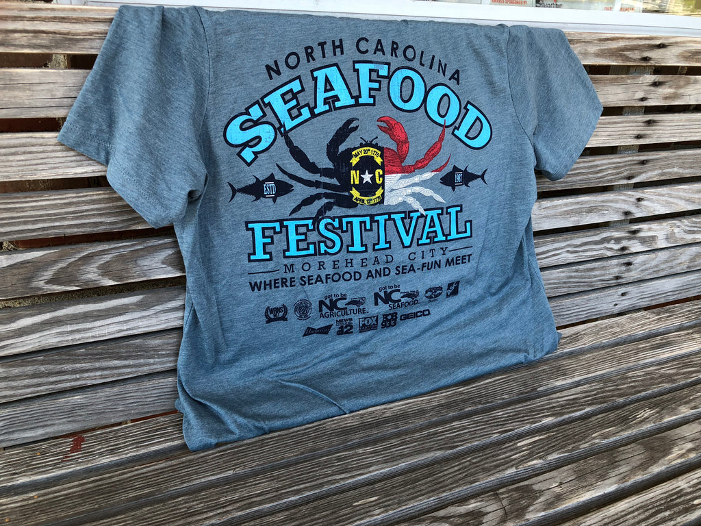 32nd Annual V-Neck Short Sleeve- Heather Slate