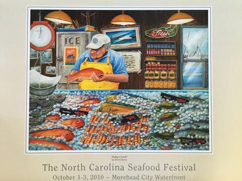 """Today's Catch"" by Sharon Kearns- 2010 Commemorative Poster"