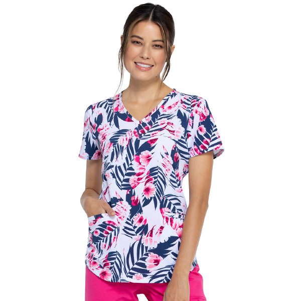 Filipina Palms And Posies en cuello V - Cherokee