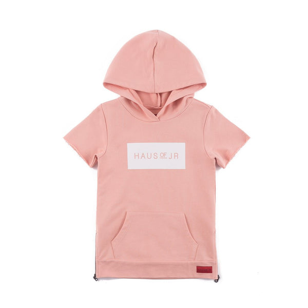 Haus of JR - Girls - Coral Jay Short Sleeve Hoodie