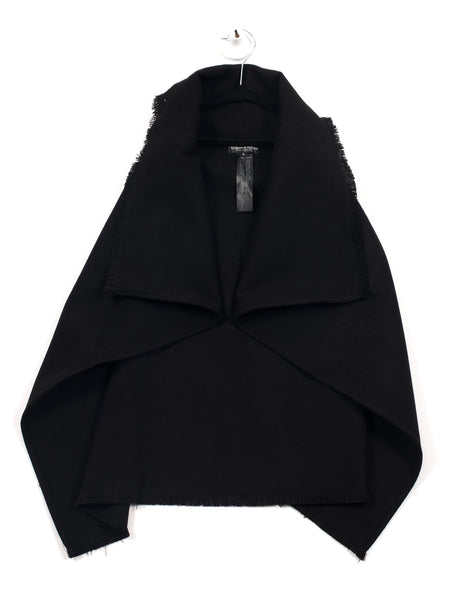 Hudson + Hobbs - Girls Black - Oversized Cardi Vest