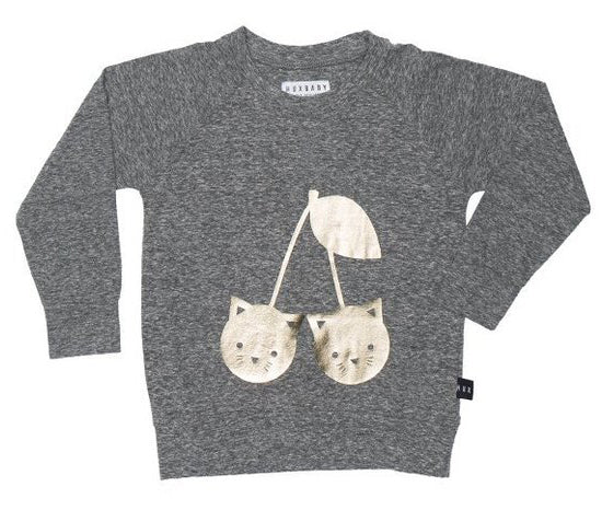 Huxbaby - Girls - Cherry Cat Sweatshirt