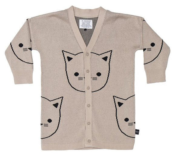 Huxbaby - Girls - Cat Knit Cardi