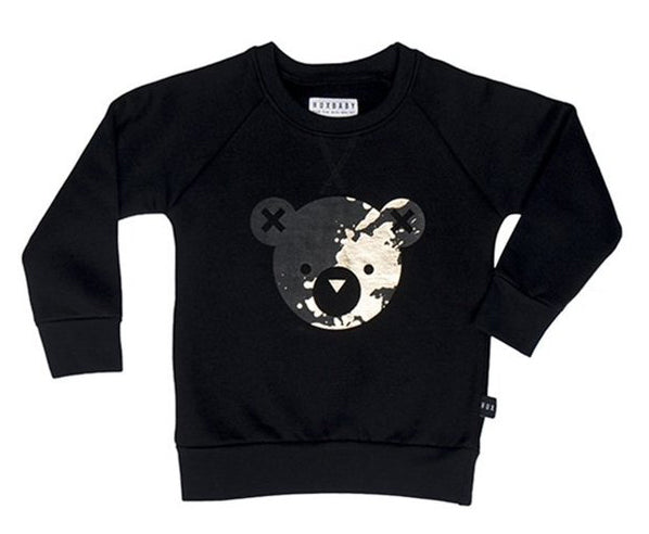 Huxbaby - Unisex - Splash Bear Fleece Sweatshirt
