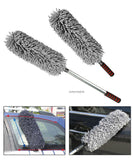 COMBO BUNDLE, JAVOedge Microfiber Car Duster with Extendable Handle Plus Duster Holder Clips to Rear Seat for Storage