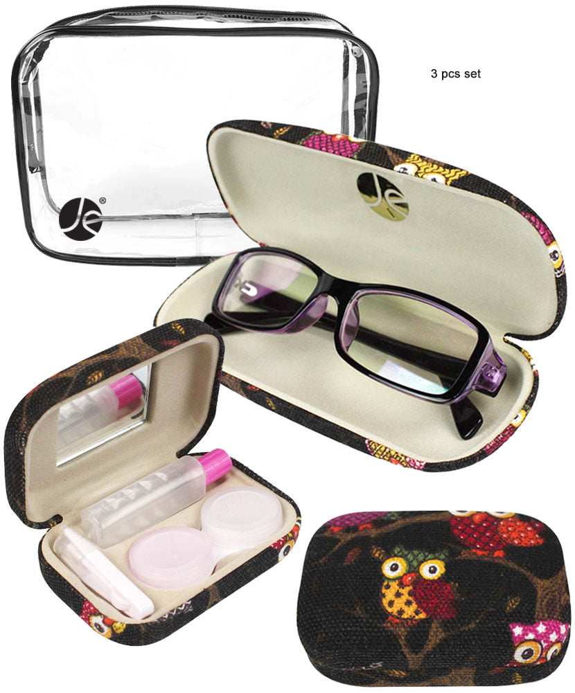 Black Eyeglass + Contact Case