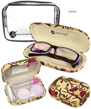 Beige Eyeglass + Contact Case